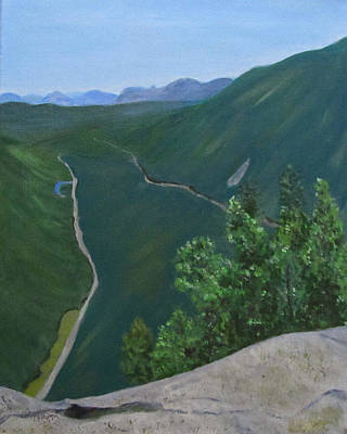 Art Print featuring the painting View From Mount Willard by Linda Feinberg