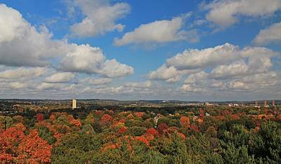 Photograph - View From Mt Auburn Cemetery Tower by Michael Saunders