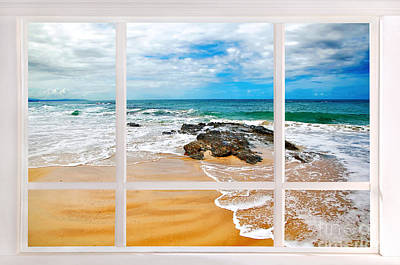 View From My Beach House Window Art Print by Kaye Menner