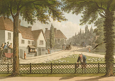 Fence Drawing - View From My Own Cottage In Essex by Humphry Repton