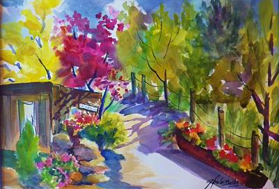 View From My Studio Door Art Print by Therese Fowler-Bailey