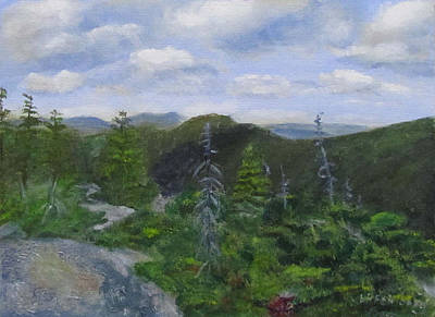 Painting - View From Noon Peak by Linda Feinberg