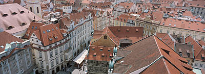 Prague Photograph - View From Old Town Hall, Prague, Czech by Panoramic Images