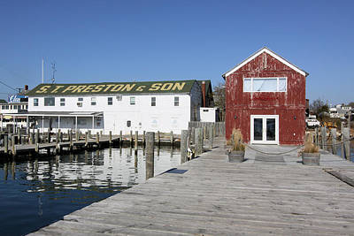 View From Pier Greenport New York Art Print