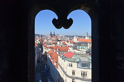 Prague Photograph - View From Prasna Brana Tower by Panoramic Images