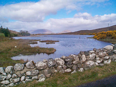 Photograph - View From Quiet Man Bridge Oughterard Ireland by Charles Kraus
