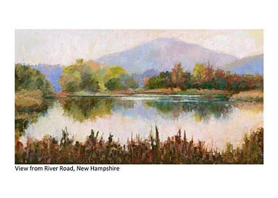 Pastel - View From River Road New Hampshire by Betsy Derrick
