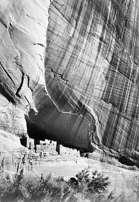 Digital Art - View From River Valley Canyon De Chelly by Ansel Adams