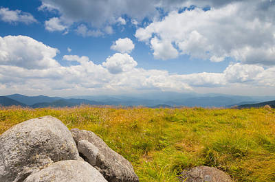 Photograph - View From Round Bald by Melinda Fawver