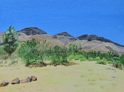 Painting - View From Sharon's House - Mojave by Linda Feinberg