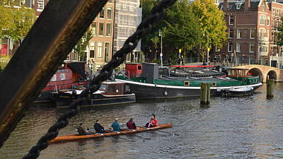 Photograph -  'skinny Bridge' Amsterdam by Cheryl Miller