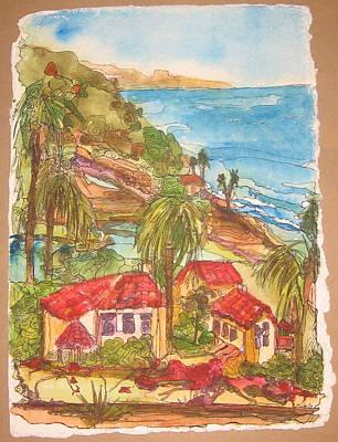 View From Solona Beach Art Print by Michelle Gonzalez