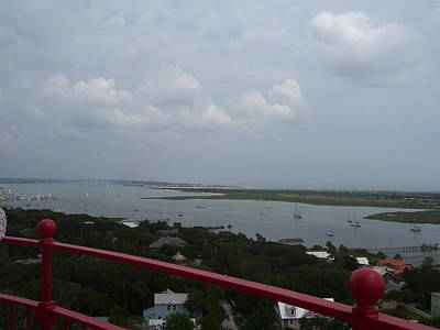 Lantern Photograph - View From St. Augustine Light by Cathy Lindsey