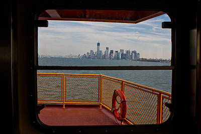 Staten Island Ferry Photograph - View From Staten Island Ferry by John McGraw
