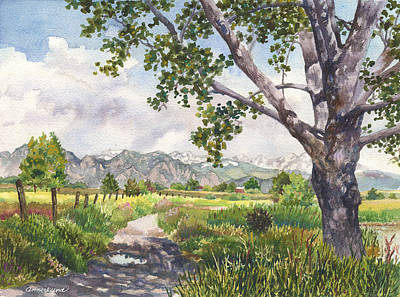 Painting - View From Stearns Lake by Anne Gifford