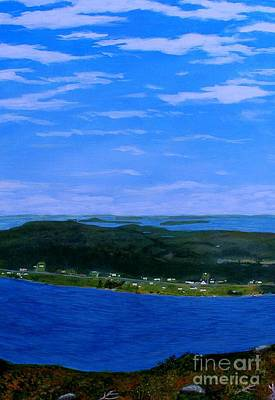 Painting - View From Sugarloaf Hill Ship Harbour Center by Barbara Griffin