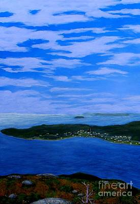Painting - View From Sugarloaf Hill Ship Harbour Cove by Barbara Griffin