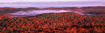 Autumn Scenes Photograph - View From Summit Peak, Porcupine by Panoramic Images