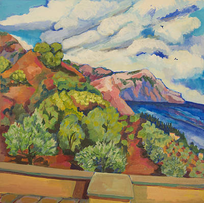 Painting - View From Terrace Crete by Doris  Lane Grey