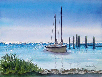 Wall Art - Painting - View From The Barnacle by Terry Arroyo Mulrooney