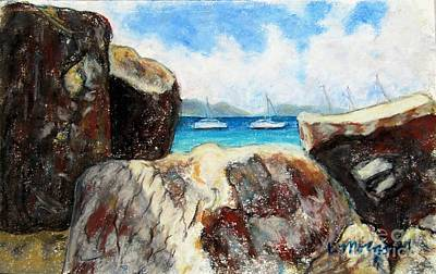 Painting - Virgin Gorda View Of Devil's Bay by Laurie Morgan