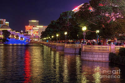 View From The Bellagio Fountains Art Print