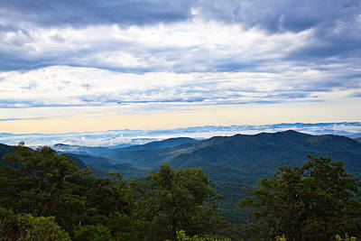 View From The Blue Ridge Parkway Art Print