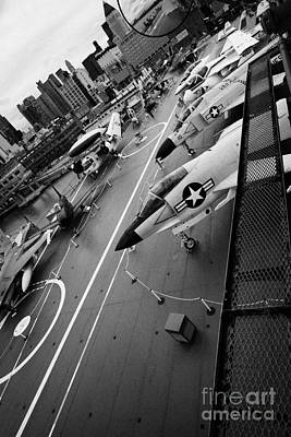 view from the bridge of the USS Intrepid at the Intrepid Sea Air Space Museum new york city Art Print by Joe Fox