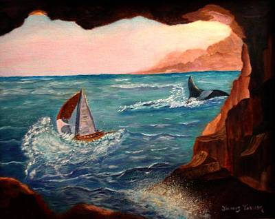 Dank Painting - View From The Cave by Janis  Tafoya