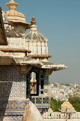 View From The City Palace, Udaipur Art Print by Inger Hogstrom
