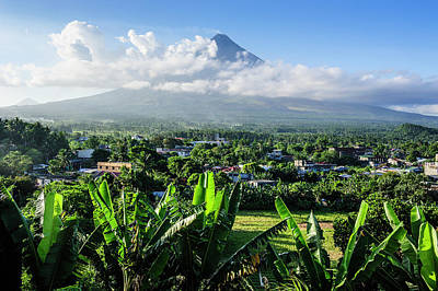 Mayon Photograph - View From The Daraga Church Over Mount by Michael Runkel