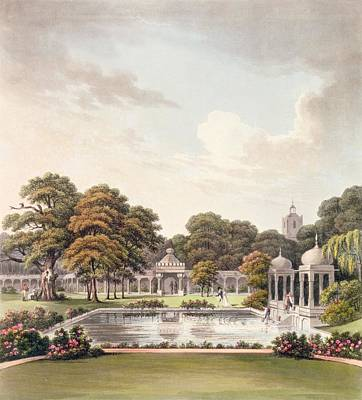 Garden Drawing - View From The Dome, Brighton Pavilion by Humphry Repton