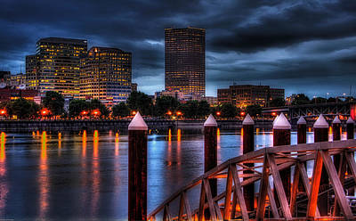 Portland-view From The East Bank Pdx Art Print