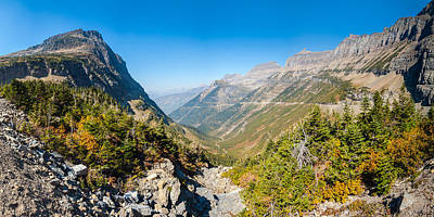 View From The Going-to-the-sun Road Art Print by Panoramic Images