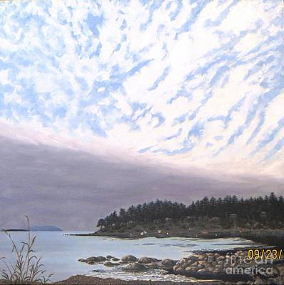 View From The Haven Beach Gabriola Art Print by Beverly Theriault