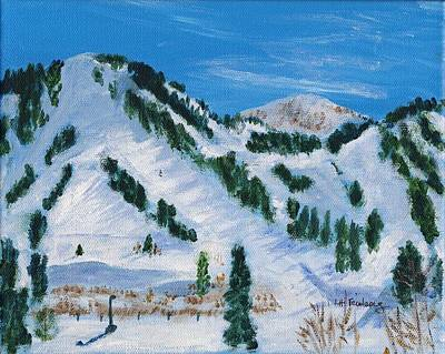 Alta Painting - View From The Lodge At Alta by Linda Feinberg