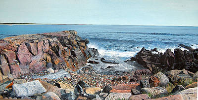 Ogonquit Painting - View From The Marginal Way by John Fitzsimmons