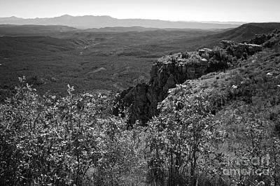 Photograph - View From The Mogollon Rim In Black And White by Lee Craig