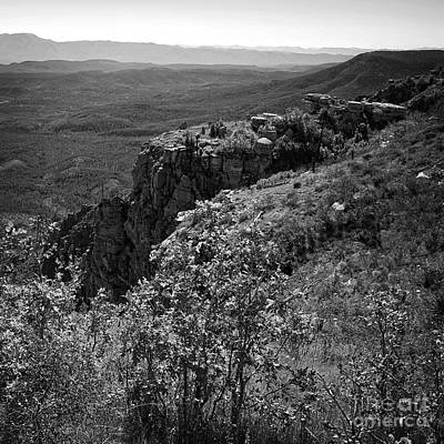 Photograph - View From The Mogollon Rim Square Format Black And White by Lee Craig