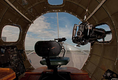 Photograph - View From The Nose Of Memphis Belle by John Black