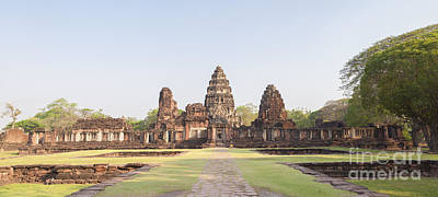 Phimai Photograph - View From The Passage Way Of Prasat Hin Phimai Temple In Thailand by Roberto Morgenthaler