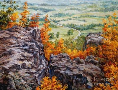 Arkansas Painting - View From The Point Petit Jean by Virginia Potter