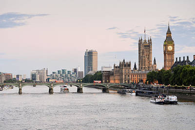 London Skyline Royalty-Free and Rights-Managed Images - View from the Thames by Jamie Heeke