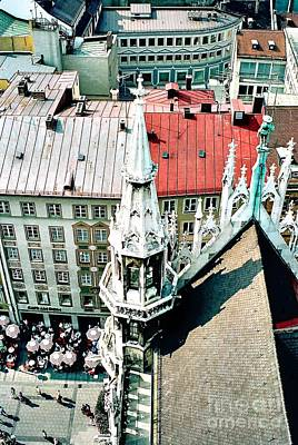 Photograph - View From The Top Of Munich City Hall by Phyllis Kaltenbach