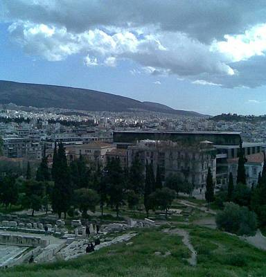 Photograph - view from the top on Parthenon by Katerina Kostaki