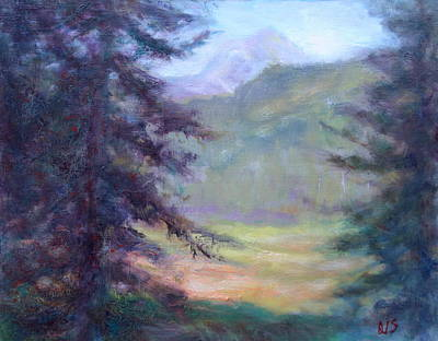 State Natural Area Painting - View From The Trail - Scenic Landscape Painting by Quin Sweetman