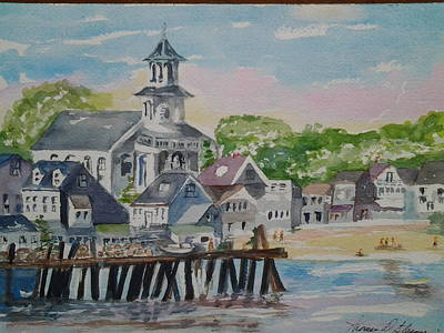 Painting - View From The Wharf by Tom Steiner