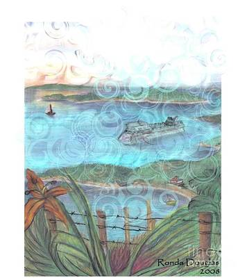 Mixed Media - View From Tourtuga by Ronda Douglas