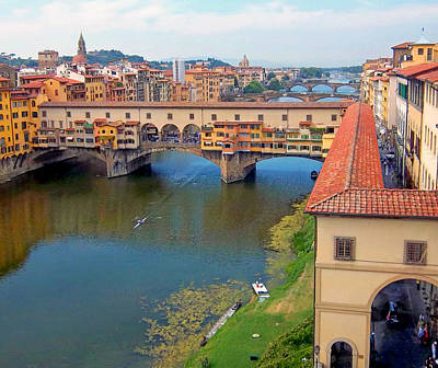 Photograph - View From Uffizi Gallery I by Caroline Stella