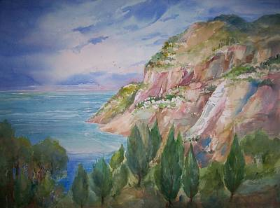 View From Villa Brunella Art Print by Sue Kemp